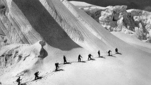 Gletscherüberquerung am Piz Bernina